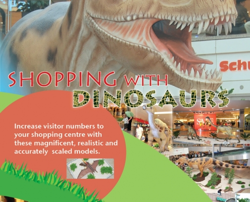 Retailtainment shopping with dinosaurs